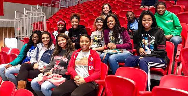 Lady Eagles Attend Redhawks Women's Basketball Game