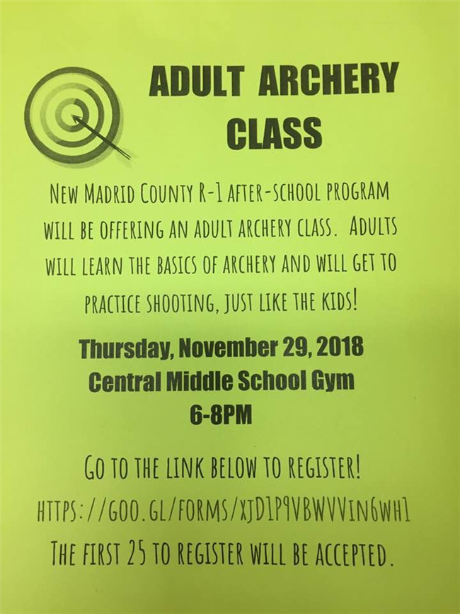 Community Archery Opportunity at MS